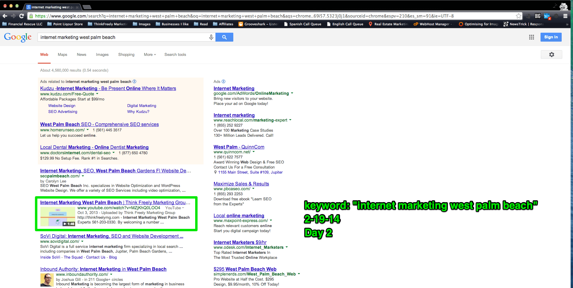 a screenshot of video seo when I got into digital marketing