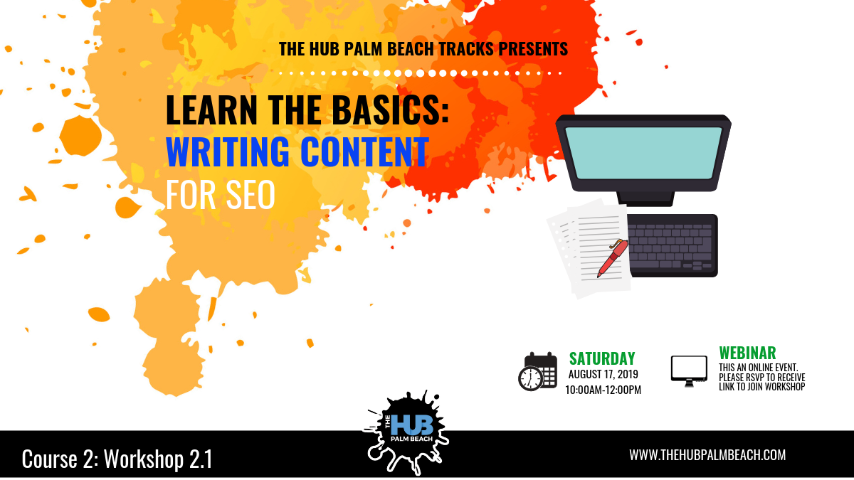 LEARN THE BASICS: Writing Content for SEO Webinar
