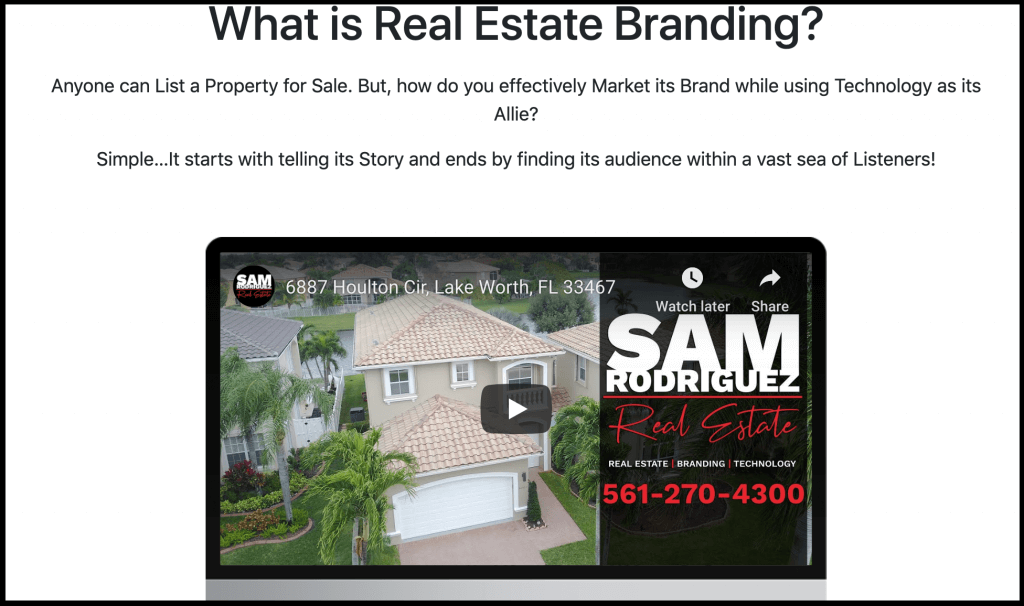 Sam Rodriguez Real Estate Branding